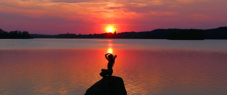 Hotel-Diekseequell Malente Sonnenuntergang am Dieksee